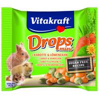 Vitakraft Drops Mini sárgarépás és pitypangos jutalomfalatkák nyulaknak