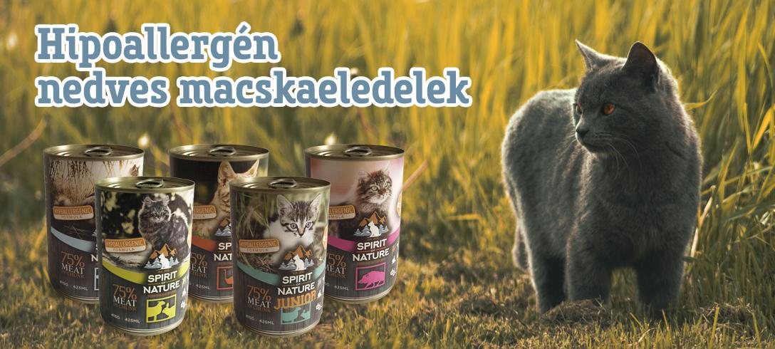 Spirit of Nature Dog hipoallergén konzervek macskáknak
