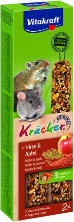 Vitakraft Kracker köleses és almás dupla rúd kisméretű rágcsálóknak