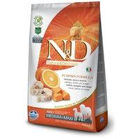 N&D Dog Grain Free Adult Medium/Maxi sütőtök, tőkehal & narancs   Közepes és nagytestű felnőtt kutyáknak
