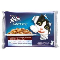 Felix nyúl- és bárányhúsos macskaeledel alutasakban multipack kiszerelésben (4 x 100 g)