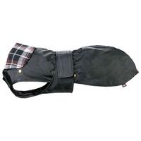 Trixie Paris vízálló fekete kutyakabát kivehető flanel béléssel, kockás mintával