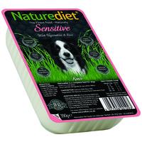 Naturediet Sensitive műanyag tálkás kutyaeledel lazaccal