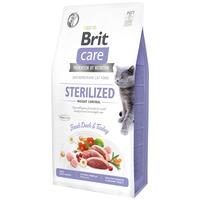 Brit Care Cat Sterilized Weight Control - Fresh Duck & Turkey - Hipoallergén, gabonamentes eledel túlsúlyos, kasztrált macskáknak