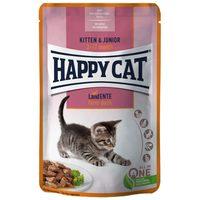 Happy Cat Meat in Sauce Kitten & Junior alutasakos eledel kacsahússal