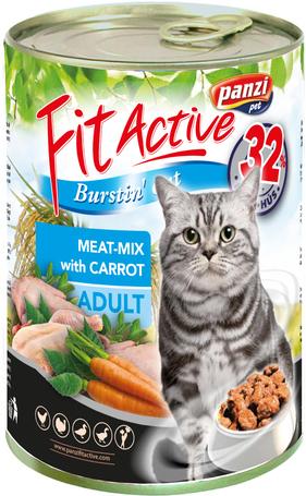 FitActive Cat Adult Meat-Mix konzerv