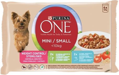 Purina One Mini/Small Weight Control/Steril nedves kutyaeledel | Ivartalanított és hízásra hajlamos kedvenceknek