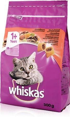 Whiskas marhahúsos és májas száraztáp macskáknak