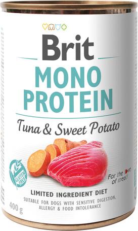 Brit Mono Protein Tuna & Sweet Potato | Hipoallergén konzerves kutyatáp tonhallal és édesburgonyával