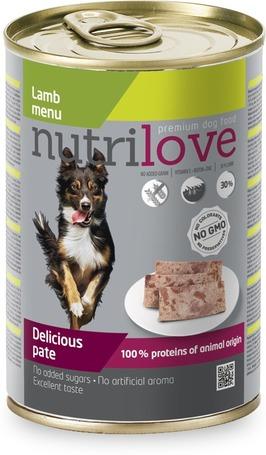 Nutrilove Dog bárányhúsos pástétom konzervben