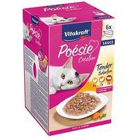 Vitakraft Poésie Multipack - Szószos válogatás alutálkában macskáknak