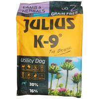 Julius-K9 GF Hypoallergenic Utility Dog Puppy & Junior Lamb & Herbals | Érzékeny emésztésű kölyökkutyáknak | Szárazeledel