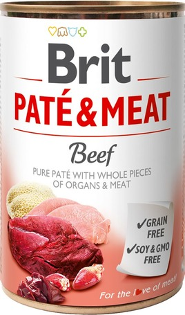 Brit Care Paté & Meat Beef konzerv kutyáknak - Pástétom egész húsdarabokkal
