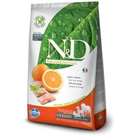 N&D Dog Adult Medium Fish & Orange Grain Free | Gabonamentes eledel közepes testméretű kutyáknak