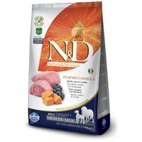 N&D Dog Grain Free Adult Medium/Maxi sütőtök, bárány & áfonya | Szuperprémium száraztáp | Közepes és nagy testméretű kutyáknak