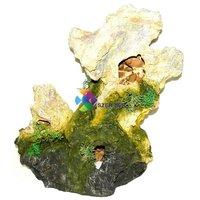 Műszikla barlangokkal akvárium dekor