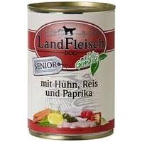LandFleisch Dog Senior szárnyas, rizses és paprikás konzerv