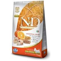 N&D Dog Adult Mini Codfish & Orange Low Grain | Tőkehalas és narancsos kutyaeledel | Kistestű felnőtt kutyáknak