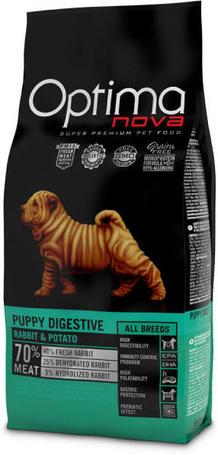 Visán Optimanova Dog Puppy Digestive Rabbit & Potato emésztési problémás kölyökkutyáknak