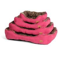 Agui Furry Bed szőrös fekhely kutyáknak - Burgundi