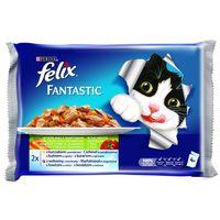 Felix alutasakos macskaeledel – Húsos válogatás zöldségekkel – Multipack (4 x 100 g)