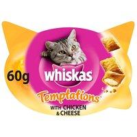 Whiskas Temptations ropogós falatkák csirkés és sajtos ízben