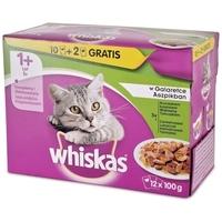 Whiskas húsos vegyes válogatás aszpikban – Alutasakos eledel – Multipack