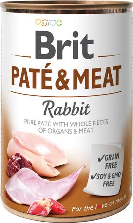 Brit Care Paté & Meat Rabbit konzerv kutyáknak - Pástétom egész húsdarabokkal