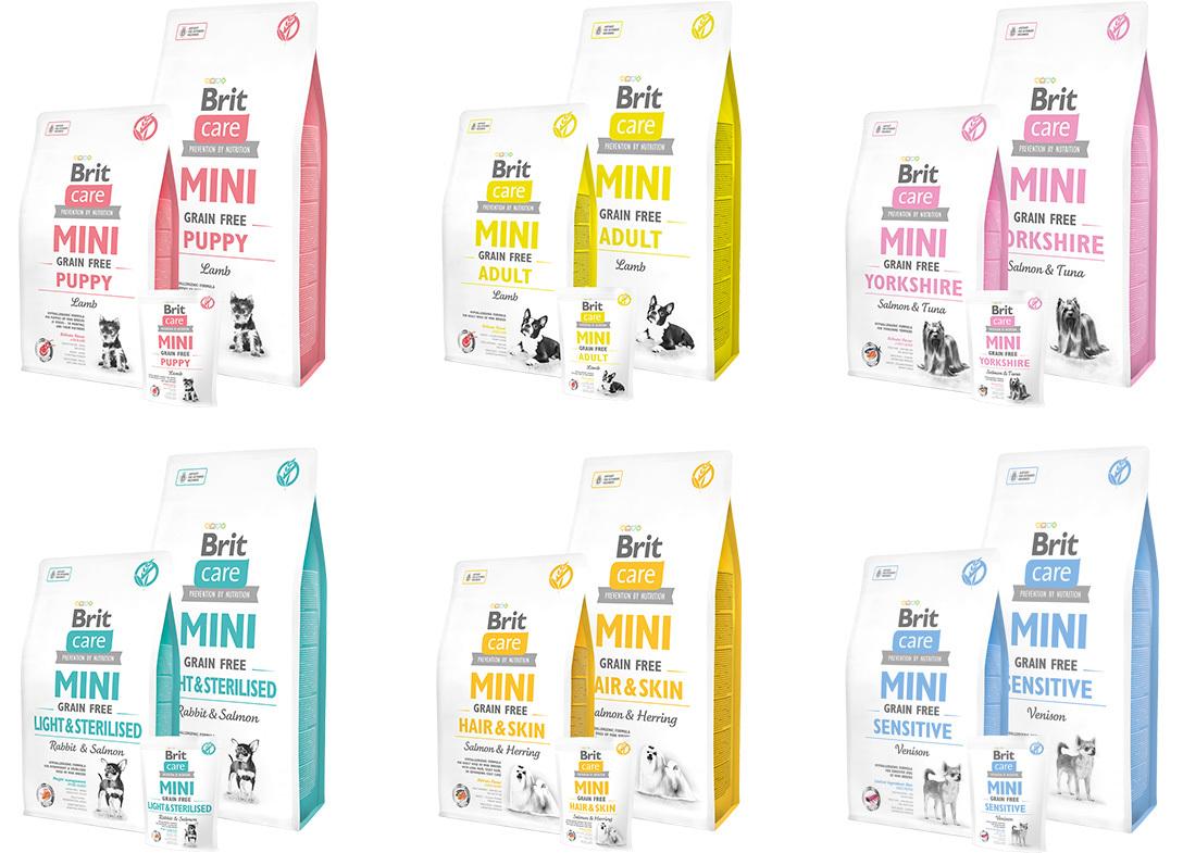 Brit Care Mini Grain Free kutyatápok