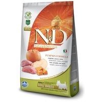 N&D Dog Grain Free Adult Mini sütőtök, vaddisznó & alma   Gabonamentes kutyaeledel kistestű kedvenceknek