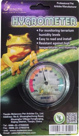 Mclan Zoo páratartalom mérő (hygrometer) terráriumba