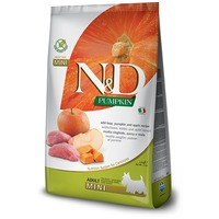 N&D Dog Grain Free Adult Mini sütőtök, vaddisznó & alma | Gabonamentes kutyaeledel kistestű kedvenceknek