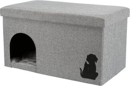 Trixie Kimy összecsukható cicabarlang, kutyaház tároló rekesszel