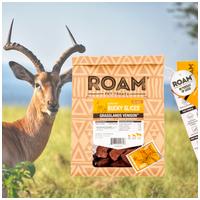 Roam - Fagyasztva szárított 100% antilop jutalomfalat allergiás kutyáknak