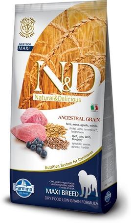 N&D Dog Adult Maxi Lamb & Blueberry Low Grain szárazeledel