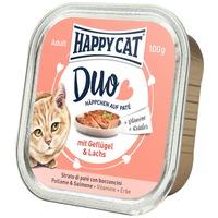Happy Cat Duo szárnyas- és lazachúsos pástétom falatkák alutálkában