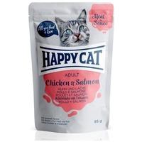 Happy Cat Meat in Sauce alutasakos eledel csirkehússal és lazaccal