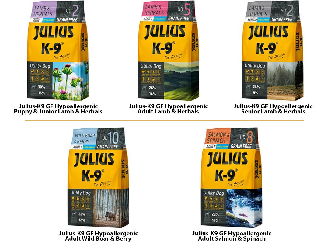 Julius K9 hipoallergén tápok kutyáknak