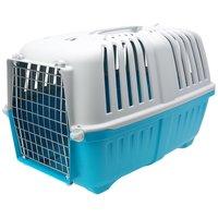 Pratiko fémajtós könnyített műanyag szállítóbox kutyáknak és macskáknak