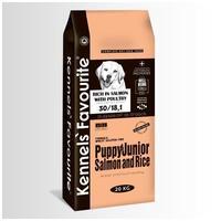 Kennels' Favourite Puppy & Junior Salmon & Rice   Táp lazaccal kölyök, és ifjabb kutyák számára