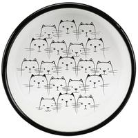 Trixie rövid orrú macskáknak kerámia tál macska mintával