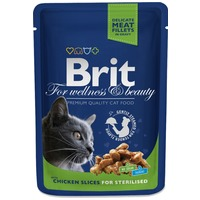 Brit Premium Cat with Chicken Slices for Sterilised