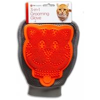 3-in-1 Grooming Glove - Kutya/macska mosó, masszírozó és szőrfelszedő kesztyű gazdiknak