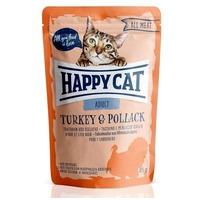 Happy Cat All Meat Adult alutasakos eledel pulykahússal és sárga tőkehallal