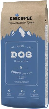 Chicopee Pro-Nature Line Puppy Lamb & Rice eledel érzékeny emésztőrendszerű kölyökkutyáknak