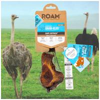 Roam - 100% füstölt strucc csípőcsont rágóka kutyáknak
