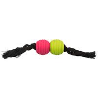 Trixie pamutkötél rugalmas latex labdákkal kutyáknak