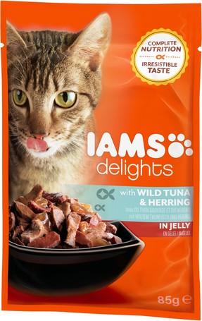 IAMS Cat Delights – Tonhal és hering aszpikban