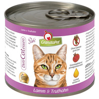 GranataPet DeliCatessen bárány- és pulykahúsos konzerv macskáknak