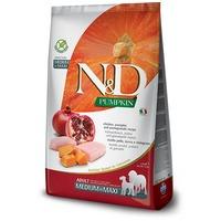 N&D Dog Prime Adult Medium/Maxi csirkehússal, sütőtökkel és gránátalmával | Gabonamentes